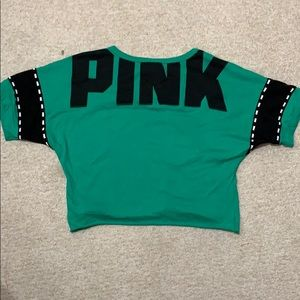 PINK Victoria's Secret Cropped baseball tee